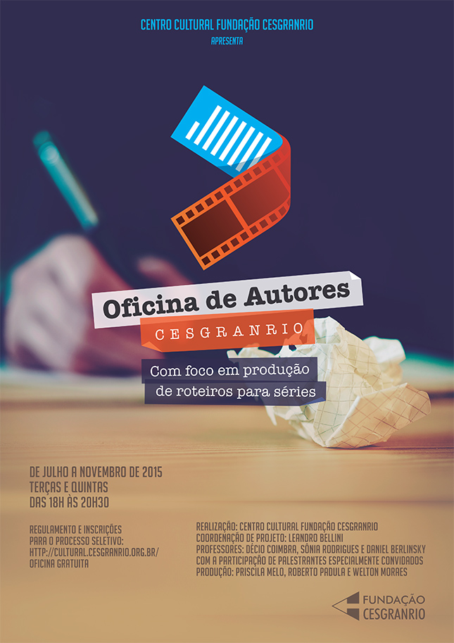 Cartaz Oficina de Autores - Fundação Cesgranrio