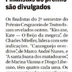 Jornal O Globo - Prêmio Cesgranrio de Teatro