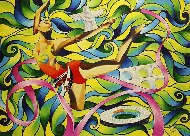 ESPÍRITO BRASILEIRO OLÍMPICO - Novos Talentos da Pintura - Finalista