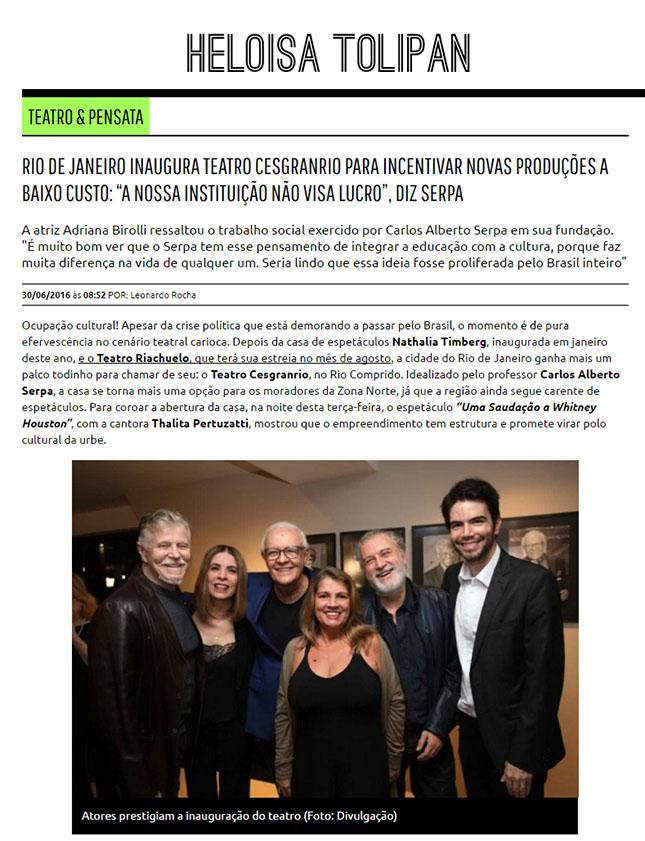 Heloisa Tolipan - Teatro Cesgranrio