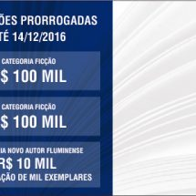 Inscrições prorrogadas até 14/12 para o Prêmio Rio de Literatura
