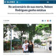 No aniversário de sua morte, Nelson Rodrigues ganha estátua
