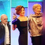 Banner com fotos dos vencedores do Prêmio Cesgranrio de Teatro - 4ª Edição