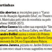 Curtinhas – Prêmio Cesgranrio de Teatro