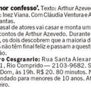 Amor Confesso – Jornal O Globo