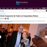 Reprodução do site Glamurama contando como foi o prêmio Cesgranrio de Teatro