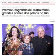 Prêmio Cesgranrio de Teatro reuniu grandes nomes dos palcos no Rio