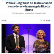 Prêmio Cesgranrio de Teatro anuncia vencedores e homenageia Nicette Bruno