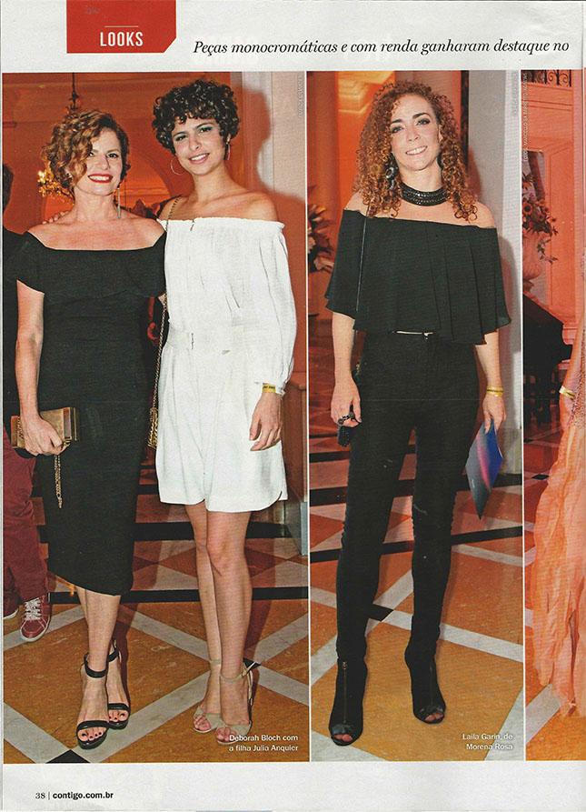 Deborah Bloch, ulia Anquier e Laila Garin no Prêmio Cesgranrio de Teatro