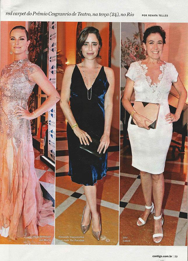 Leticia Birkheuer, Fernanda Vasconcelos e Lilia Cabral no Prêmio Cesgranrio de Teatro
