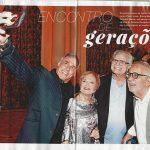 Reprodução da Revista Quem contando como foi o prêmio Cesgranrio de Teatro - Oscar Magrini, Gloria Menezes, Tarcísio Meira e Paulo José