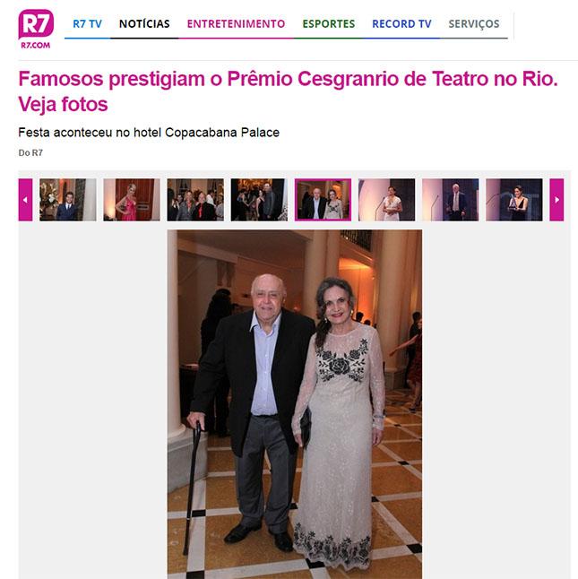 Famosos prestigiam o Prêmio Cesgranrio de Teatro no Rio