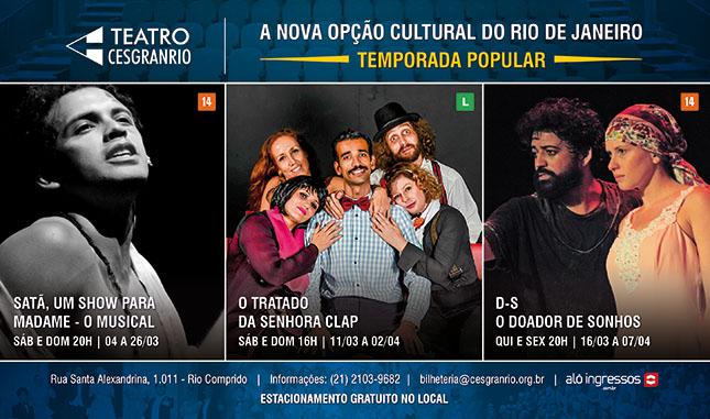 Teatro Cesgranrio - Peças de Março