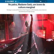 No palco, Madame Satã, um ícone da cultura marginal