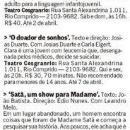 Teatro Cesgranrio – Jornal O Globo