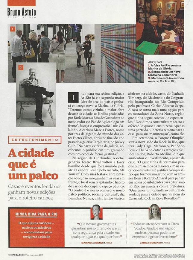 Teatro Cesgranrio - Revista Época