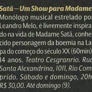 Veja Rio – Satã, Um Show para Madame