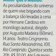 Maior que o Mundo – Revista Veja Rio (18-04-2017)