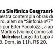 Orquestra Sinfônica Cesgranrio na Sala Cecília Meireles