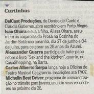 Curtinhas – Jornal O Globo