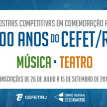 Mostra competitiva musical – Edital – CEFET/RJ – 100 anos