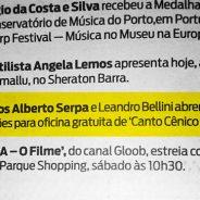 Jornal O Globo – Oficina de Canto Coral Cênico Cesgranrio