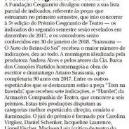Jornal O Globo – Prêmio Cesgranrio de Teatro