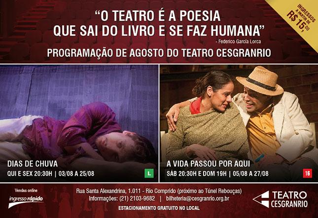 Teatro Cesgranrio - Agosto