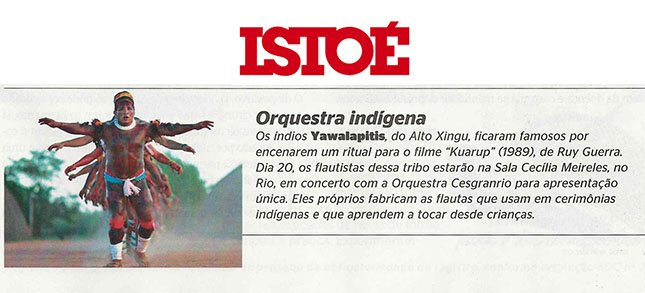 Revista Isto É - Orquestra Sinfônica Cesgranrio