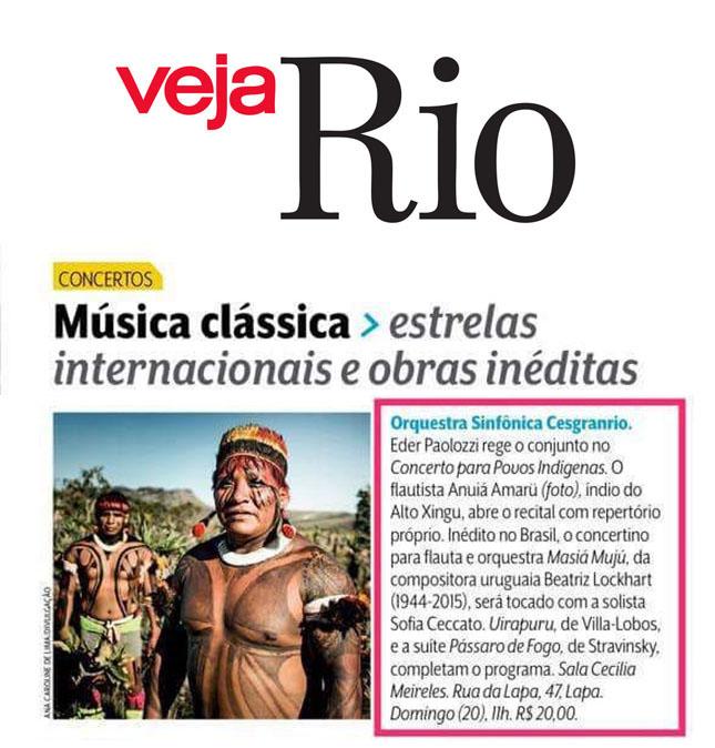 Revista Veja Rio - Orquestra Sinfônica Cesgranrio