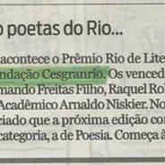Atenção poetas do Rio