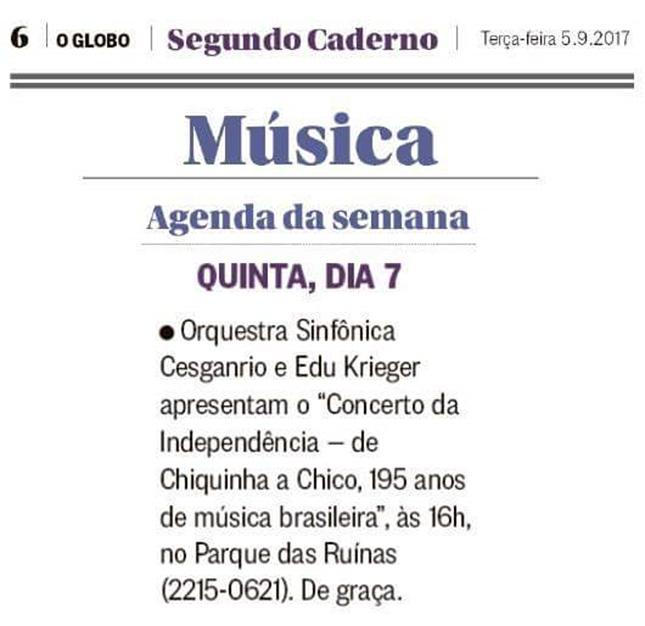Orquestra Sinfônica Cesgranrio - Jornal O Globo
