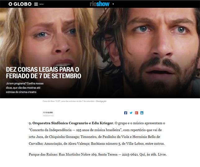 Orquestra Sinfônica Cesgranrio - Jornal O Globo - Rio Show Online