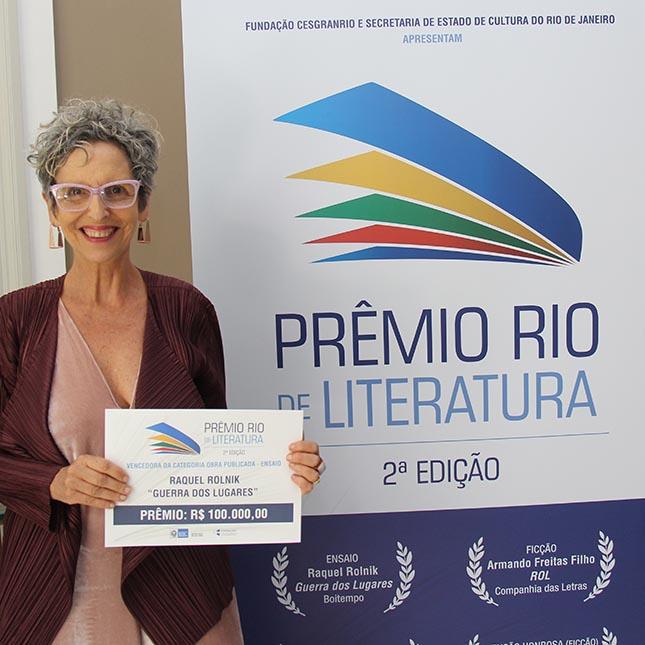 Prêmio Rio de literatura - 2ª Edição - Vencedores - Raquel Rolnik – Guerra dos lugares