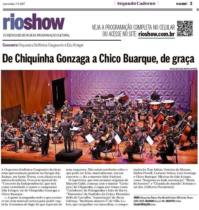 De Chiquinha Gonzaga a Chico Buarque, de graça