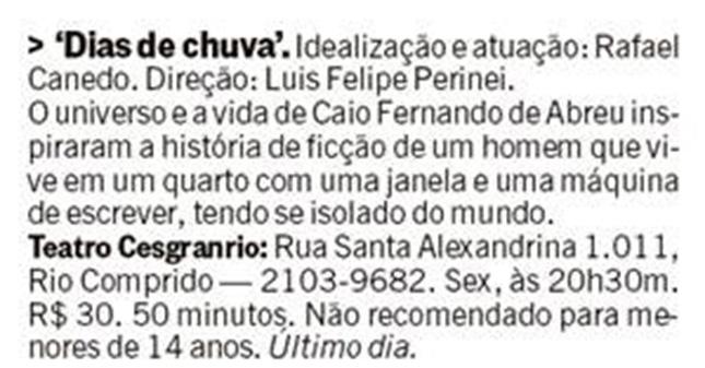 Dias de chuva (Rio Show)
