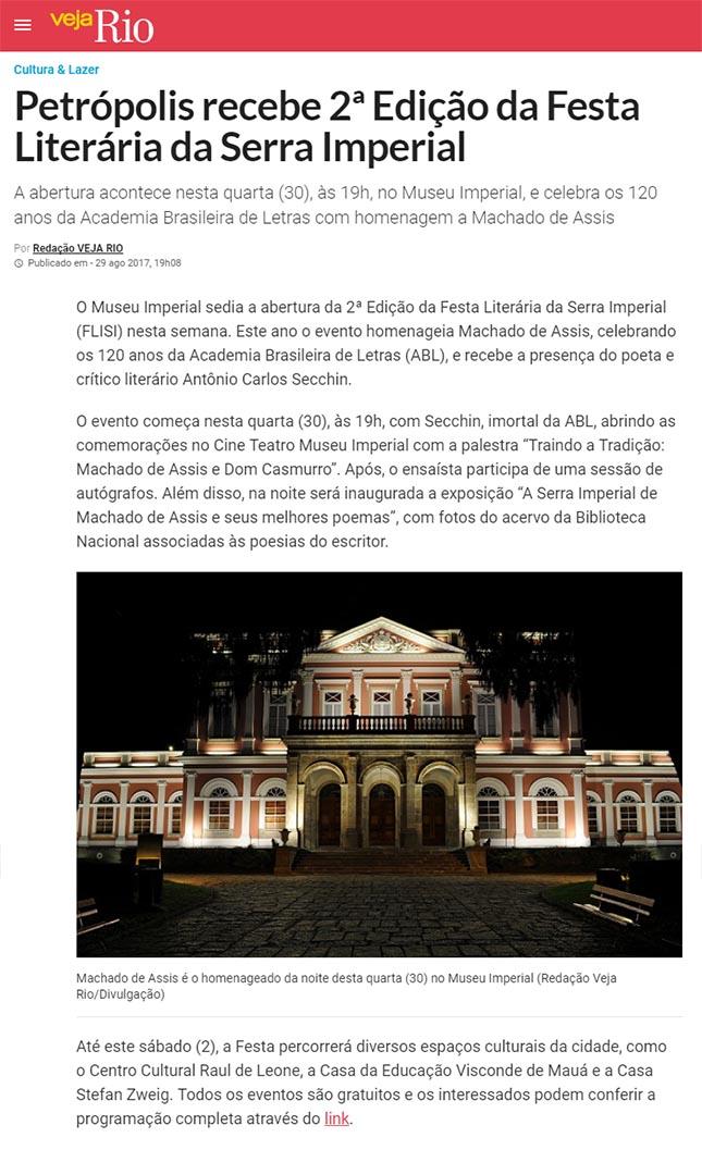 Petrópolis recebe 2ª Edição da Festa Literária da Serra Imperial
