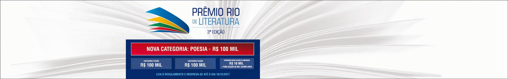 Prêmio Rio de Literatura – 3ª Edição abre inscrições