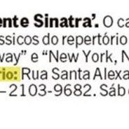 Simplesmente Sinatra (Rio Show – Jornal O Globo)