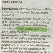 Jornal O Globo (Ancelmo Gois) – Prêmio Cesgranrio de Teatro
