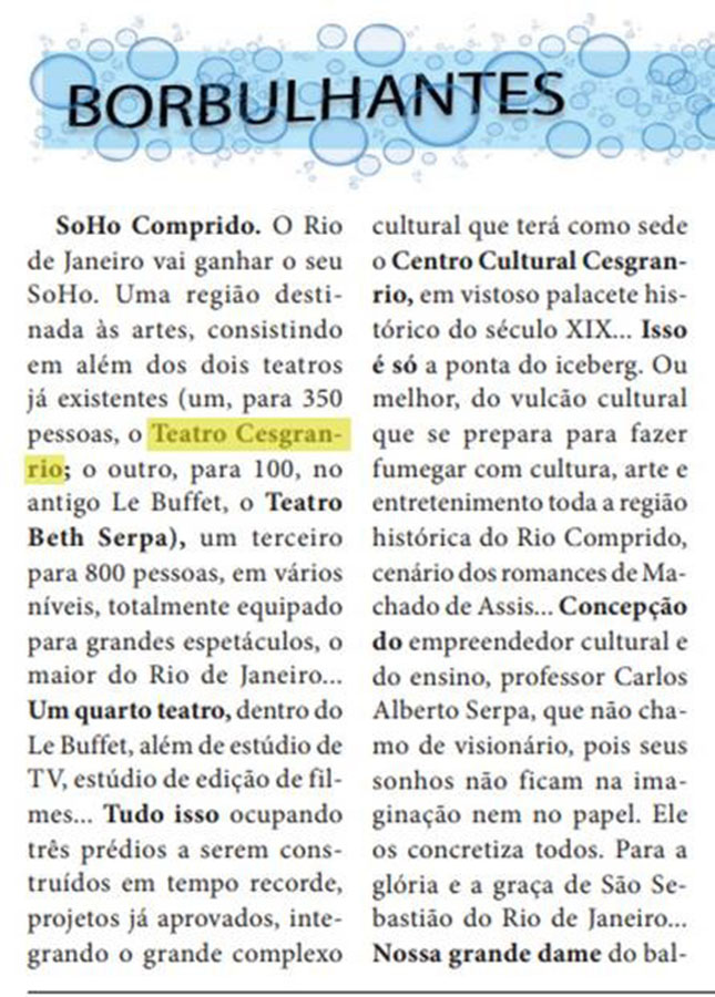 Rio Comprido: SoHo Carioca - Fundação Cesgranrio