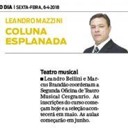 Teatro Musical – Jornal O Dia (Coluna Esplanada)