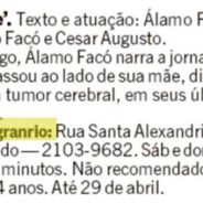 Mamãe – Jornal O Globo (Rio Show)
