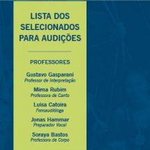 2ª Oficina de Teatro Musical Cesgranrio divulga selecionados para audição
