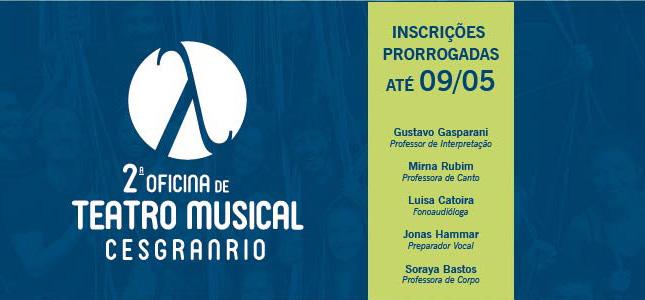 2ª Oficina de Teatro Musical Cesgranrio 2018