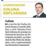 Jornal O Dia – Coluna Esplanada – Cultural