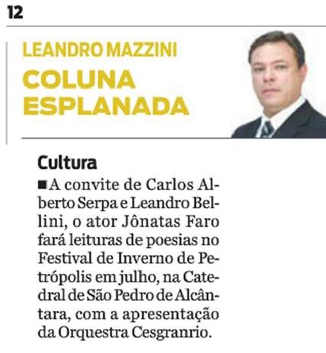 Festival de Inverno de Petrópolis -Fundação Cesgranrio