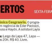 Jornal O Globo – Rio Show – Concertos (25-05-2018)