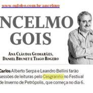 Jornal O Globo – Ancelmo Gois – Festival de Inverno de Petrópolis
