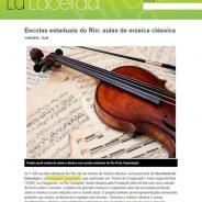 Escolas estaduais do Rio: aulas de música clássica